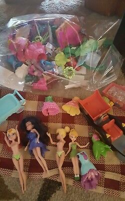 "Huge Lot of Disney Mini Tinkerbell Fairies Toys 2-1/2"" DOLL FIGURES & MORE!"