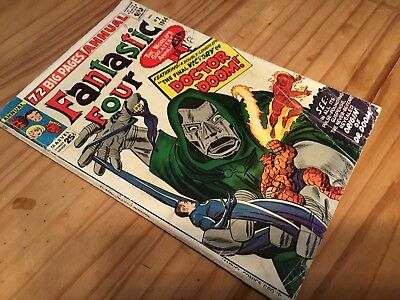 Fantastic Four Annual #2 Feat. Dr Doom Lee & Kirby. CENTS.VG+