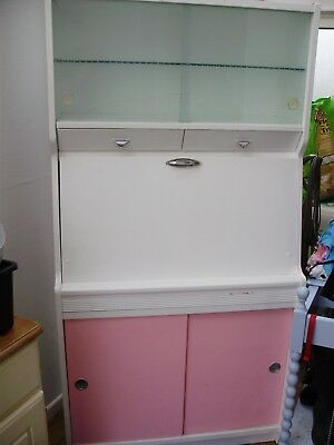 Vintage Kitchen Cabinet/Dresser Retro 50's Pink/White Made by Hygena