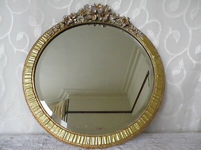 LARGE BEVELLED WALL MIRROR,  UPCYLCED BARBOLA 1930's , VERY GOOD CONDITION