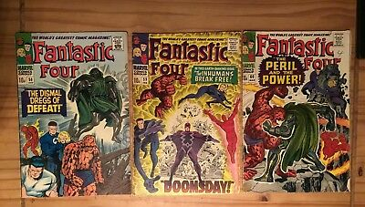 Fantastic Four #58 #59 and #60 lot of 3 issues Stan Lee & Jack Kirby 1967