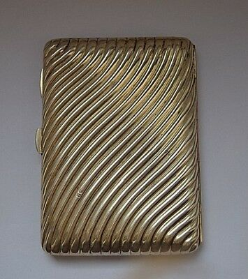 Antica Scatola In Argento 800 Inghilterra/solid Silver Card Case Chester 1920 Ca