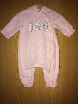 Baby Gap Pink All In One Bear Hood with GAP logo