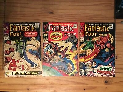 Fantastic Four #61 #62 #63 lot of 3. Lee/Kirby 1967
