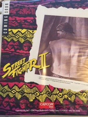 Used Capcom Street Fighter Ii Arcade Coin Op Video Game Brochure Flyer