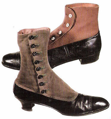 1900sVintage Antique Young Childs Shoe Spats Gaitors Edward'n Clothing Steampunk