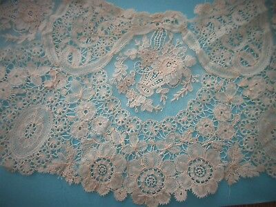 Antique,LACE,handmade,THE MOST DELICATE ANTIQUE LACE COLLAR,1 IN A MILLION!