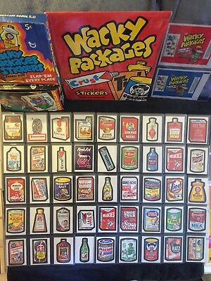 1967 Topps Wacky Packages 1St Series Issue Die Cut Near Complete 43/44 + 2 (Ratz