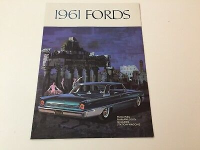 1961 Original Ford Brochure Featuring Galaxies, Fairlanes And Wagons
