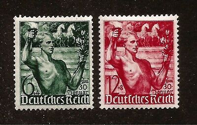 Nazi Third 3rd Reich Germany Olympics Torch Bearer stamp set Mint HINGED 1930's