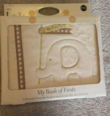 Marks and Spencer Baby Gift Set Soft Book My Book of Firsts