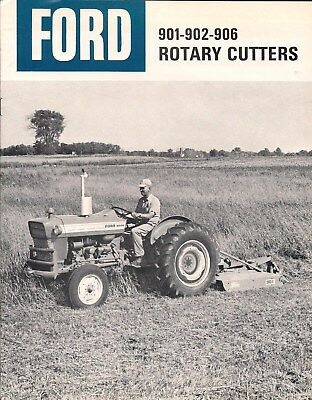 Ford Tractor LiteratureROTARY CUTTERS 901-902-906Original Dated 1966 & 67