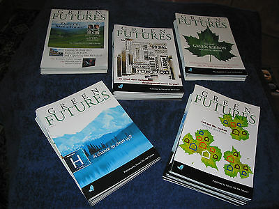 52 issues of GREEN FUTURES, the magazine of Forum for the Future, sustainability