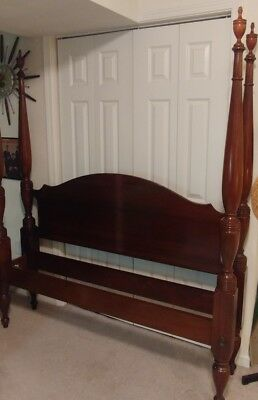 Craftique Mahogany Queen Size Poster Bed Henkel Harris Quality