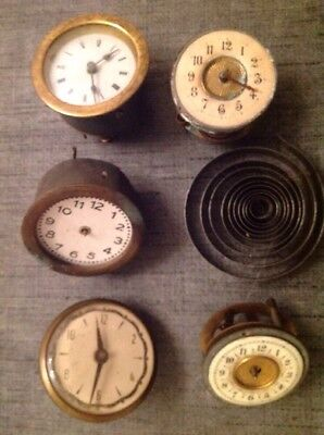 Antique Clock Movements Spare Parts For Repair Or Restoration