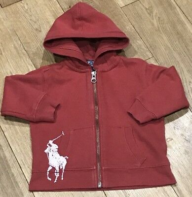 Boys Genuine Ralph Lauren Hoodie In Red Size 12 Months