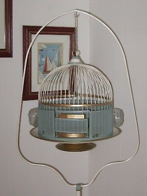 Vintage Hendryx Refinished Bird Cage with Matching Stand ( REALLY NICE COMBO)