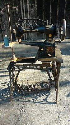 Singer  Sewing Machine, Model 29-4, with original cast iron base.