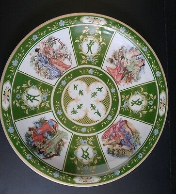 Chinese/japanese vintage plate with  beautiful romantic scenes