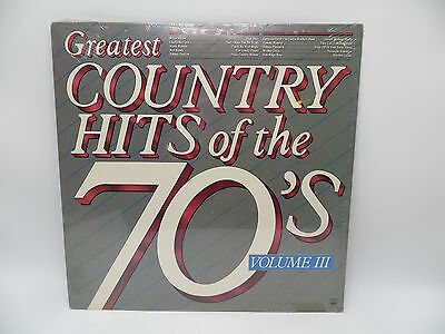 Greatest Country Hits of the 70's Volume III LP Vinyl Record NEW FACTORY SEALED
