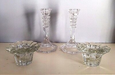 Cut Glass Candle Stick Holder, &  Votive Candle Holders