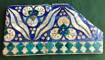 Antique Damascus Cintamani design tile, Syria