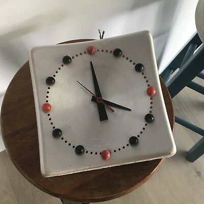 vintage mid-century modern wall clock 1950s 1960s Modernism Eames? Free Shipping