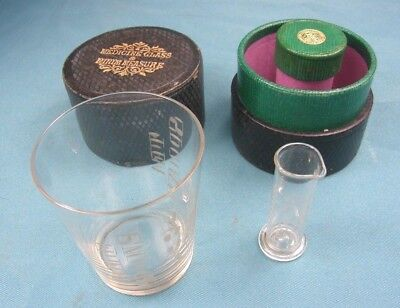 Antique Cased Apothecary Medicine and Minim Measure Glasses - Great Condition