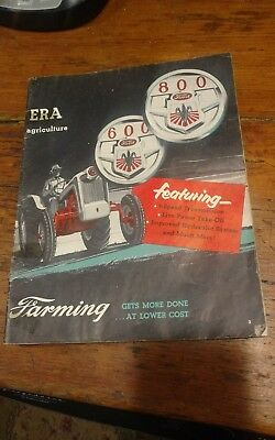 1950's Ford 800 600 farm tractor color photo 30 page advertising magazine