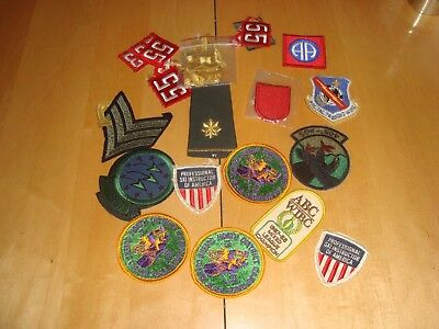 Lot of  Misc vintage BSA Boy scout Patches Badges Military