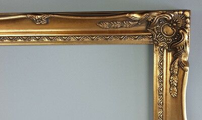 Picture Frame- 24x36 Vintage Antique Style Baroque Old Bright Gold Ornate #678G