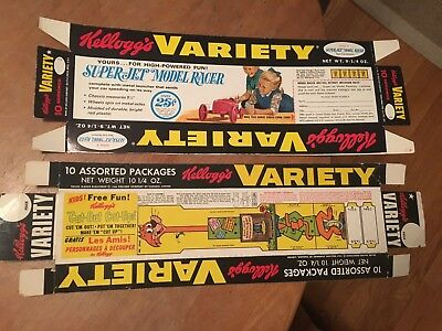 Kelloggs Cereal Variety Pack Trays Hanna Barbera Mr Jinks And Race Car