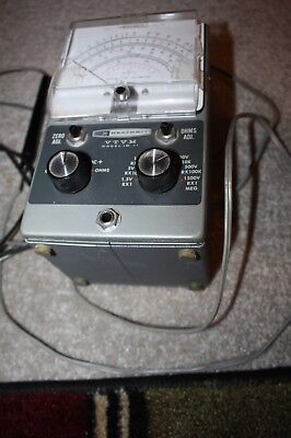 HEATHKIT VTVM Model IM-11 Vacuum Tube Volt Meter With Cables, USA made, Working