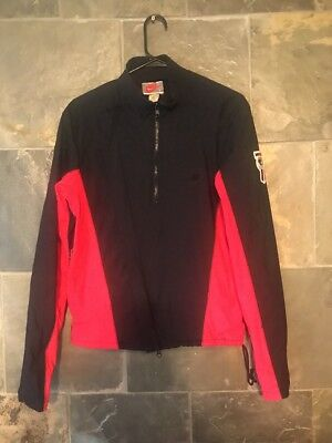 Vintage Nike Warm Up Jacket USA Made Unusual Diagonal Zipper Size M Pink 80s 90s