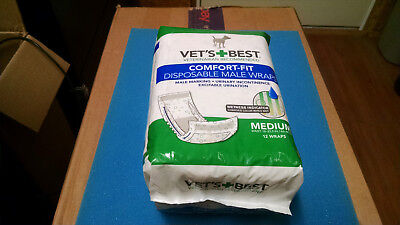 Vet's Best Comfort Fit Disposable Male Dog Diapers With Wetness Indicator, 12...