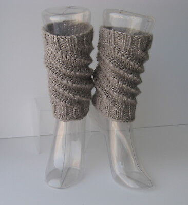 Hand Knit Textured Ankle Warmers 100% Vegan Acrylic / Knit Boot Toppers Cuffs