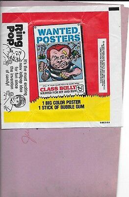 1980 Topps Wanted Posters Wrapper Prime