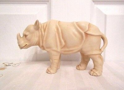 Rare Antique German Royal Rudolstadt Porcelain Figurine / Rhinoceros