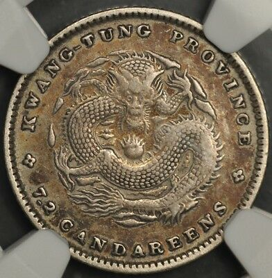(1890-1908) Ngc Xf Details China Kwangtung 10 Cents L&m-136