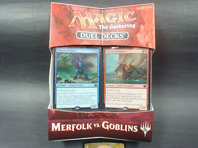 Magic The Gathering - Merfolk vs Goblins Duel Deck MTG Free Random Card Included