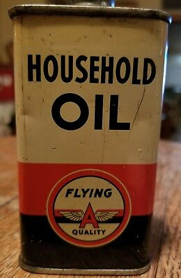 Flying A quality oil can, handy oiler tin