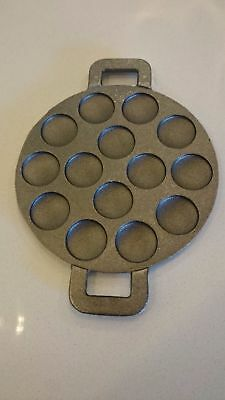 Poffertjes Pan Double Handle 14 Dimple Dutch Pancake Pan High Grade Cast Iron