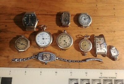 Ladies Vintage Gold Filled Watches Pocket Watches  Large Lot