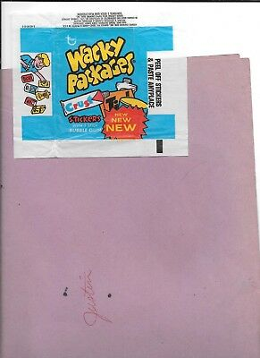 1973 Topps Wacky Package Wrapper ;ight blue