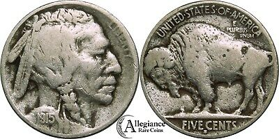 1915-S 5c Buffalo Nickel F+ rare old type coin from an old collection