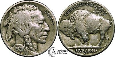 1920-S 5c Buffalo Nickel VF+ rare old type coin from an old collection