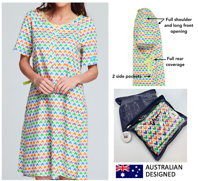 Designer Hospital/Maternity Gown PLAY 100% Cotton - 6 sizes incl. Plus Sizes