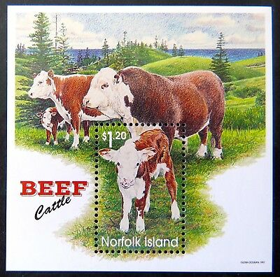 1997 Norfolk Island Stamps - Beef Cattle - Mini Sheet MNH