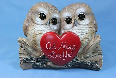 Owl Statue Owl Couple in Love Owl Always Love You Statue New