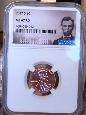 2017-D Lincoln Shield Cent NGC MS 67 RD * Tough coin in 67 *